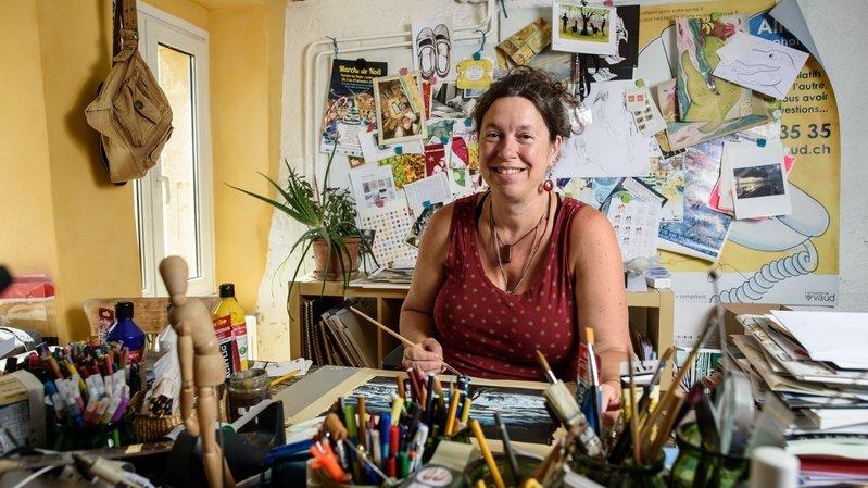La Sarraz: ses dessins racontent la migration aux enfants