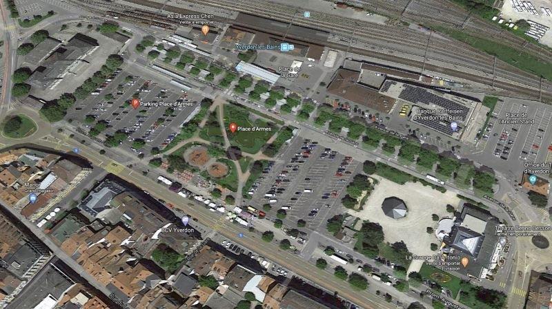A terme, un parking souterrain doit être construit à la place d'Armes d'Yverdon.