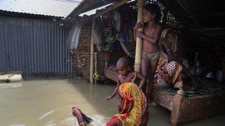 Mousson: près d'un tiers du Bangladesh est actuellement sous l'eau