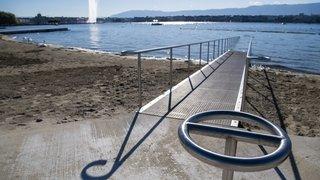 Genève: la nouvelle plage des Eaux-Vives dévoilée dans sa forme finale