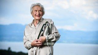 A 90 ans, l'infatigable Georgette Buehlmann tient une forme olympique