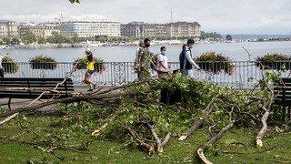 Orage sur Genève: les pompiers sont intervenus 260 fois, la police de la navigation mobilisée