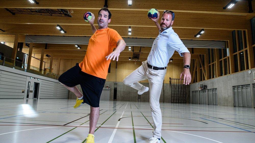 Les nouveaux visages du HBC Nyon: l'entraîneur Yohann Ploquin (g.) et le président Thomas Heurtevent (d.).