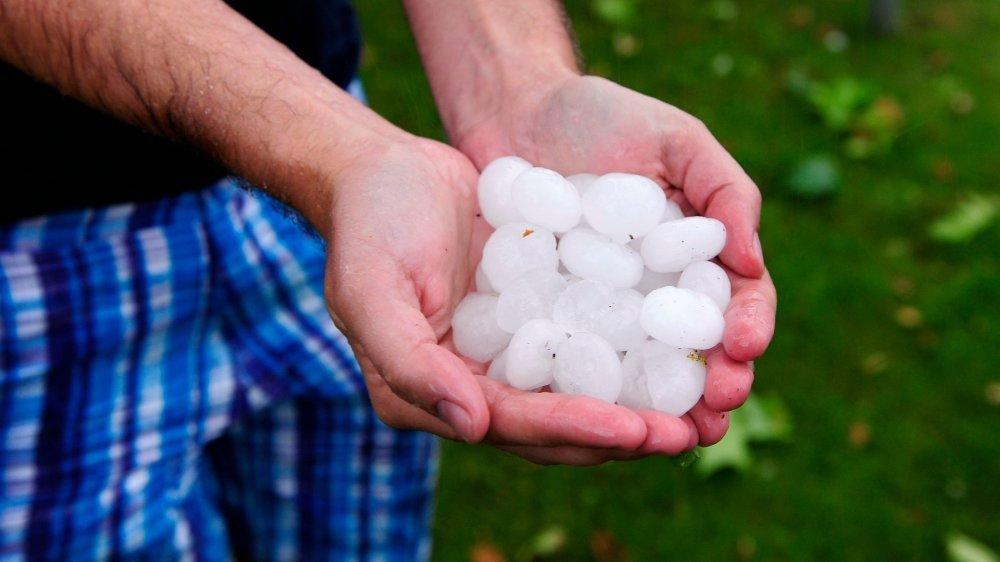 La grêle, ici lors de la tempête de juin 2013 dans la région de Nyon, est le danger naturel qui a le plus coûté dans le canton entre 1999 et 2018.