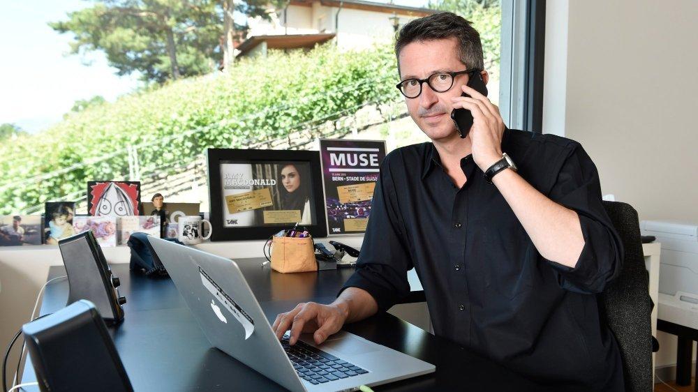 Sébastien Vuignier, ancien programmateur de Paléo, travaille maintenant pour l'agence  TAKK en Valais.