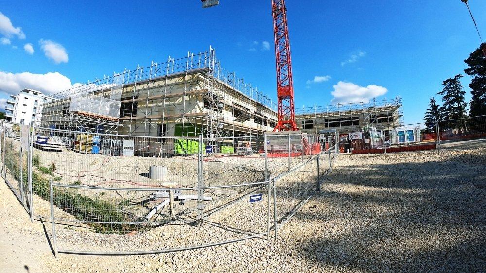 Le chantier du futur complexe des Chavannes, à Cossonay, n'a pas trop souffert de la crise sanitaire.