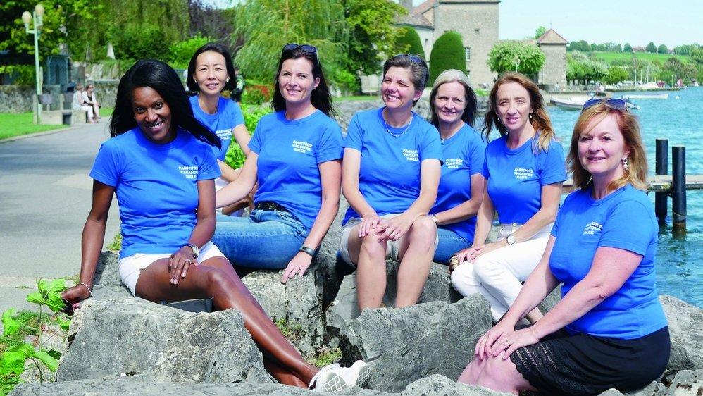 Les architectes rolloises du passeport-vacances: Michelle, Beini, Nathalie, Floriane, Katja, Sandrine, Dominique (il manque Elly).
