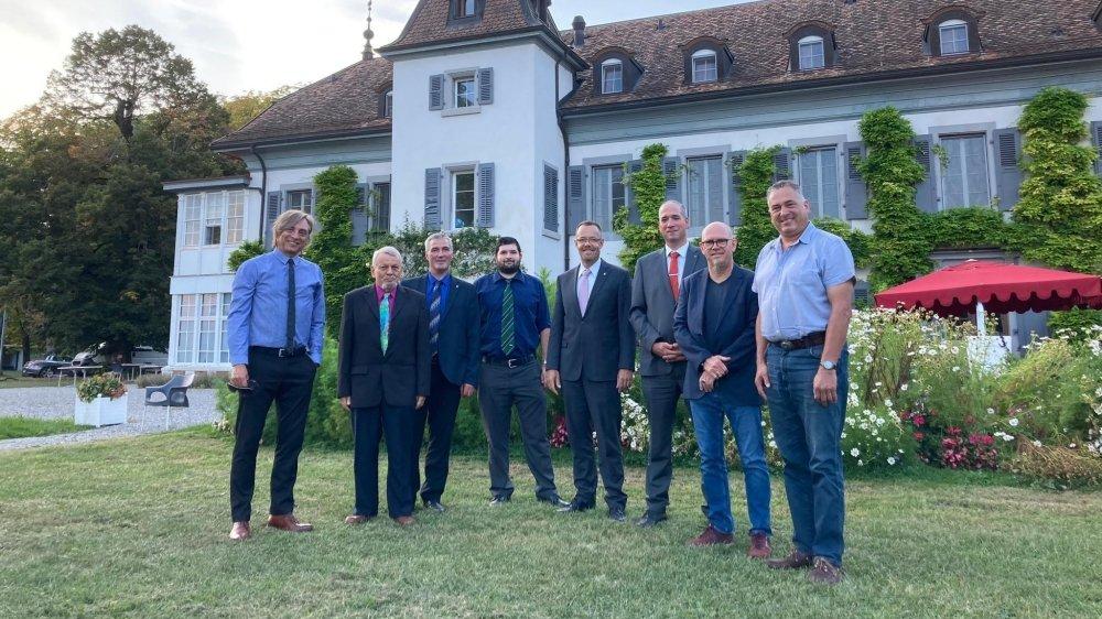 Des membres de la direction cantonal du parti ont fait le déplacement à Bogis-Bossey.