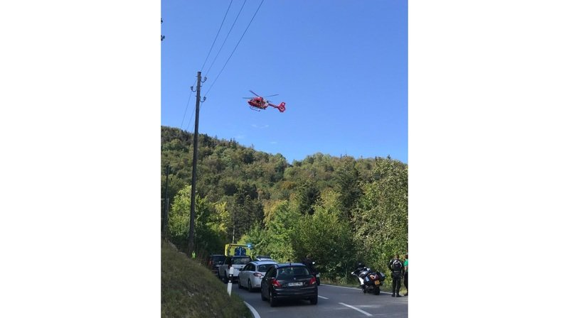 St-Cergue: un jeune motard héliporté au CHUV suite à un accident