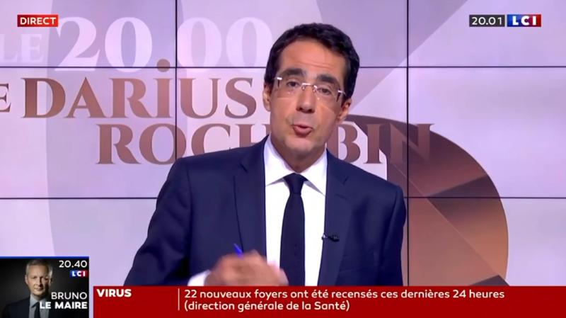 Télévision: Darius Rochebin a fait ses premiers pas sur LCI
