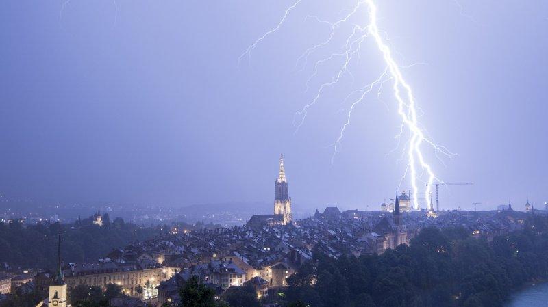 Météo: plus de 210'000 éclairs ont frappé la Suisse cet été