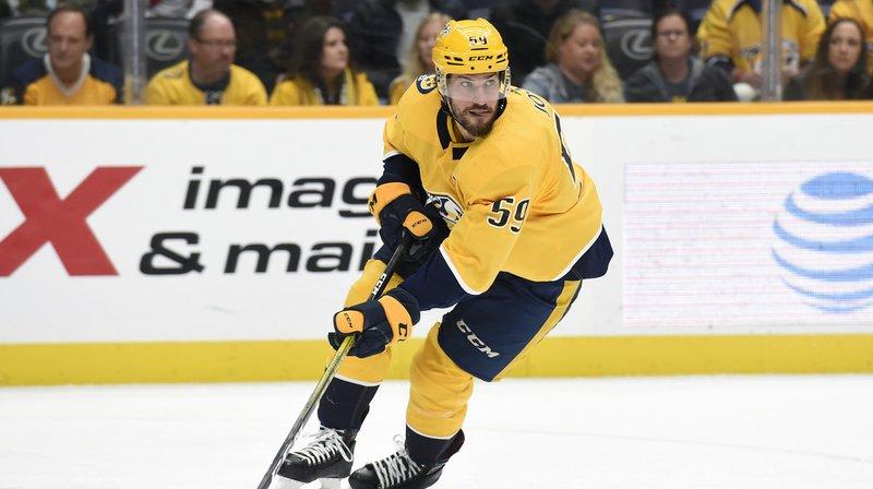 Hockey: Roman Josi est sacré meilleur défenseur de la saison en NHL