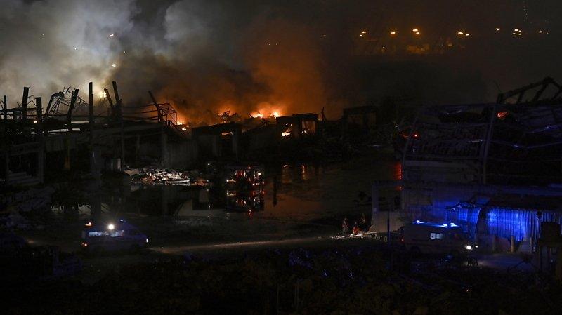 Liban: l'incendie au port de Beyrouth est éteint, l'aide humanitaire affectée