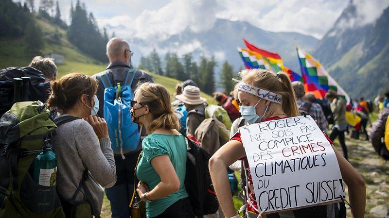 Un hommage pour les glaciers disparus à Trient (VS)