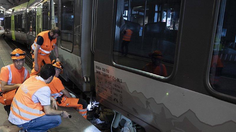 Transports publics – déraillement d'un train: le trafic est rétabli à Berne
