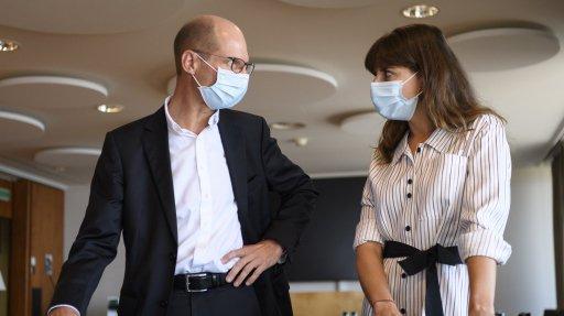 Le directeur du CHUV, Philippe Eckert, a rencontré la conseillère d'Etat en charge de la santé Rebecca Ruiz.