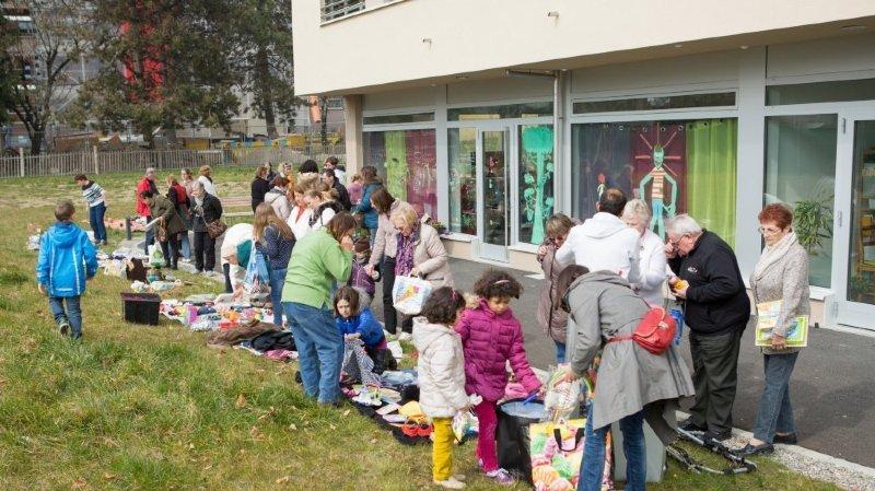 Le local communautaire du Pré de l'Oie, à Nyon, accueillera pour la sixième  fois le marché gratuit et brunch de l'association Pré de Chez t'Oie.
