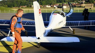 Raphaël Domjan a réalisé la «première chute libre solaire» depuis l'avion SolarStratos