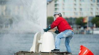 Ce Rollois a réalisé son essai un peu fou: tenter de dévier le Jet d'eau de Genève